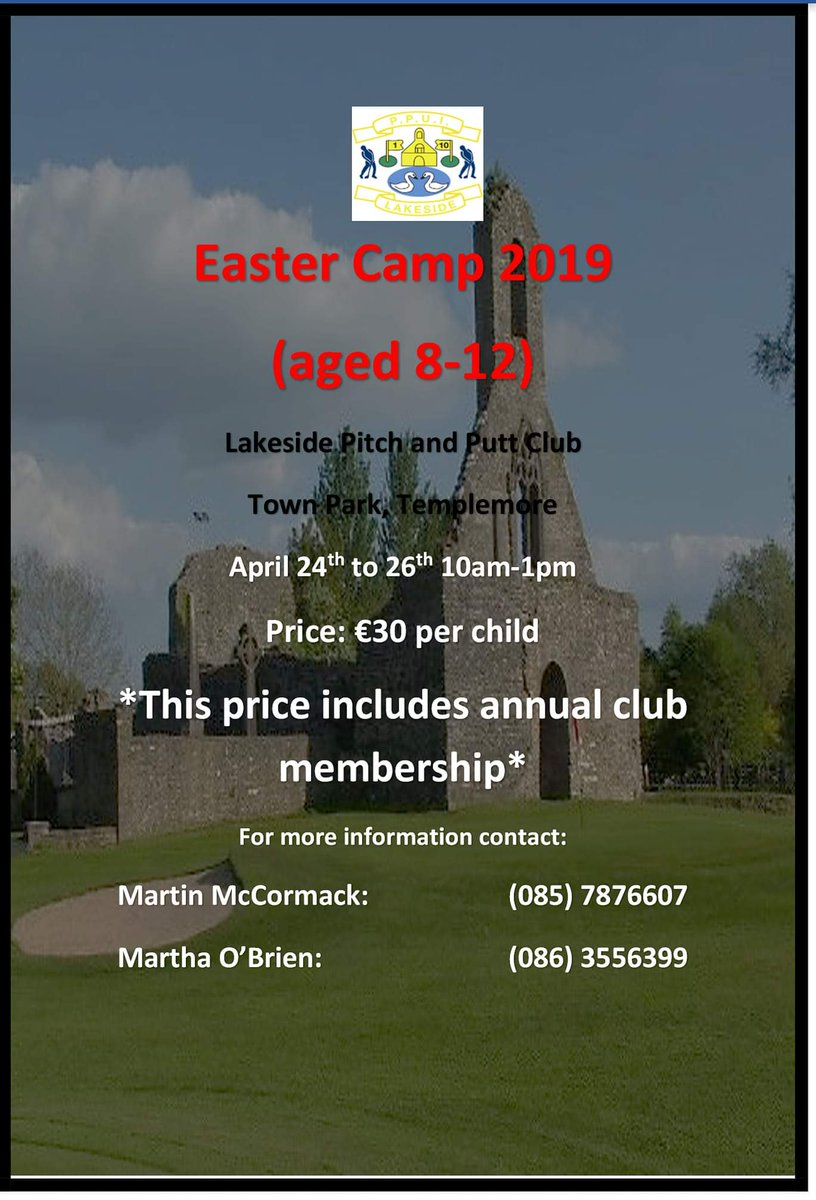 Lakeside Pitch and Putt Club ‏Easter Camp